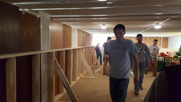 Wall Partition Service Project (Habitat for Humanity): April 16th, 2016